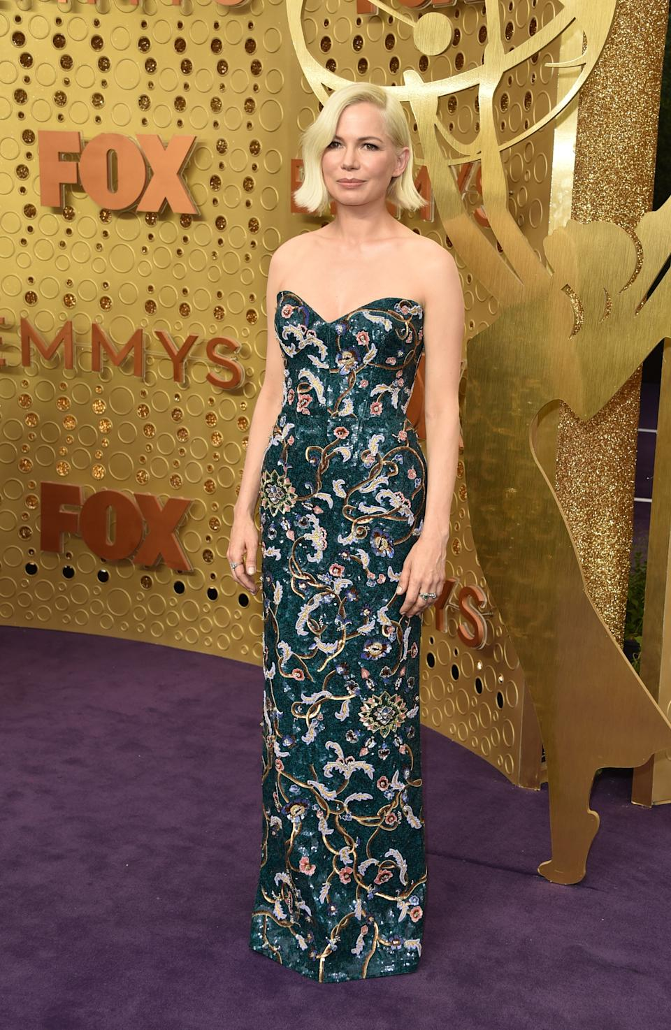 """<h1 class=""""title"""">Michelle Williams in Louis Vuitton and Fred Leighton jewelry</h1><cite class=""""credit"""">Photo: Getty Images</cite>"""