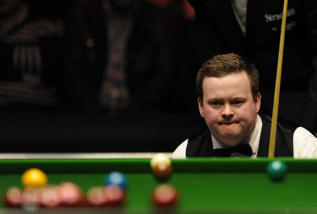 Shaun Murphy of England pictured during his match against John Higgins of Scotland during the semi-final match in the BGC Masters snooker tournament at Alexandra Palace in north London on January 21, 2012. AFP PHOTO / CARL COURT (Photo credit should read CARL COURT/AFP/Getty Images)