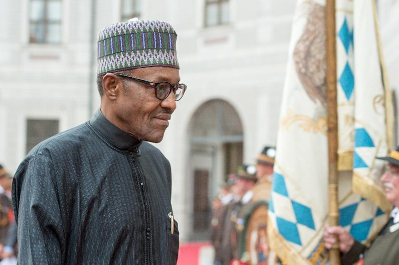 President Muhammadu Buhari arrives for a reception on the sidelines of a G7-summit in Munich, Germany on June 7, 2015 (AFP Photo/Armin Weigel)