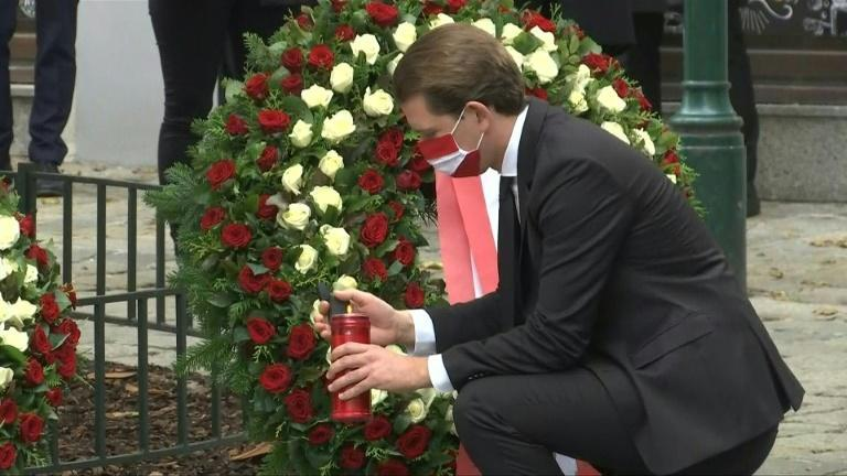 Austrian leaders pay their respects to the victims of Vienna attack