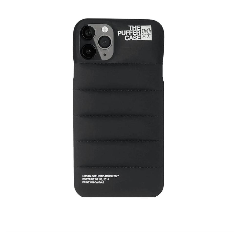 """<p><span>Urban Sophistication Puffer Phone Case</span> ($65)</p> <p>""""OK, so this is exactly what it looks like - a play on The North Face puffer for your iPhone. Aside from the fact that it's hilarious, I also drop my phone all the time and appreciate the extra padding."""" - Sarah Wasilak, editor, fashion</p>"""
