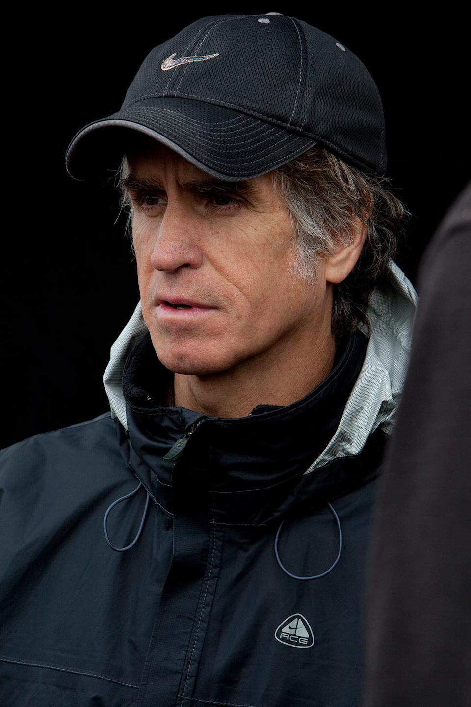 """Jay Roach on the set of Warner Bros. Pictures' """"The Campaign"""" - 2012"""