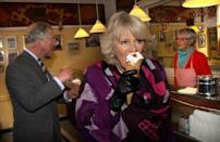"""<p>Camilla, Duchess of Cornwall enjoys an ice cream cone in Denmark. </p><p><strong>MORE</strong>:<a href=""""https://www.townandcountrymag.com/society/tradition/g36892894/kate-middleton-prince-william-royals-ice-cream-photos/"""" rel=""""nofollow noopener"""" target=""""_blank"""" data-ylk=""""slk:Festive Photos of Royals Eating Ice Cream"""" class=""""link rapid-noclick-resp""""> Festive Photos of Royals Eating Ice Cream</a></p>"""