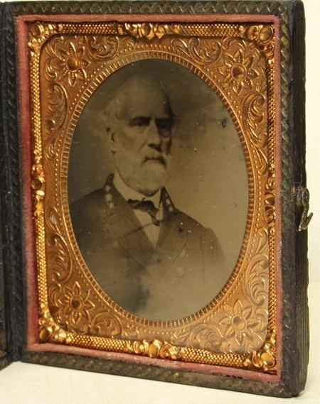 A tintype photograph of Confederate General Robert E. Lee is seen in an undated photo provided by the Goodwill Industries of Middle Tennessee. The tintype was sold by Goodwill Industries of Middle Tennessee on their online auction site, onlinegoodwill.com, for $23,001 dollars on Wednesday, Sept. 7, 2011. The old photo was spotted in a bin by a Goodwill worker who pulled it out and sent it to Goodwill's online operation.  Manager Suzanne Kay-Pittman said on Thursday that the bin was headed to the outlet store where everything is sold by the pound. She estimated it would have gone for a dollar and change there.  (AP Photos/Goodwill Industries of Middle Tennessee, Inc.)