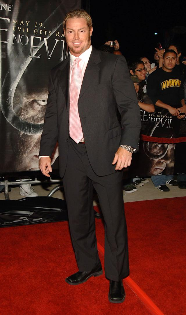 Rob Conway, WWE Raw Superstar during 'See No Evil' Premiere - Arrivals in Los Angeles, California, United States. (Photo by J.Sciulli/WireImage for LIONSGATE)