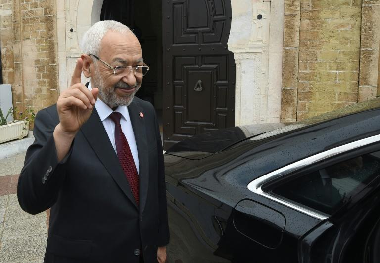 Leader of Tunisia's Islamist-inspired party Ennahdha, Rached Ghannouchi (AFP Photo/FETHI BELAID)