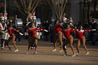 <p>The marching band from Howard University, Vice President Kamala Harris' alma matter, livens up the parade with their performance. </p>