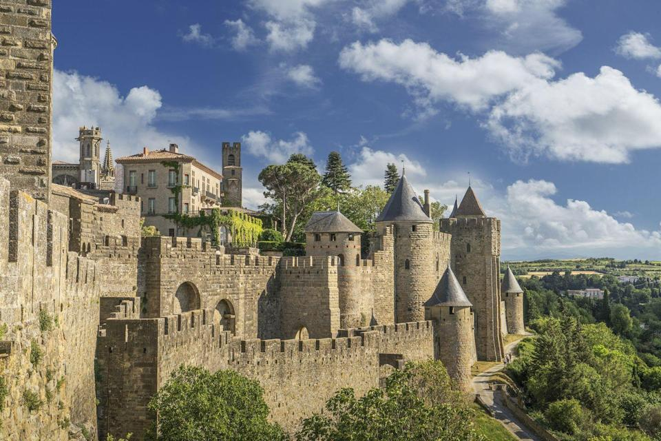 """<p><a href=""""https://www.gov.uk/foreign-travel-advice/france/entry-requirements"""" rel=""""nofollow noopener"""" target=""""_blank"""" data-ylk=""""slk:Entry requirements and travel advice for France"""" class=""""link rapid-noclick-resp"""">Entry requirements and travel advice for France</a></p><p>For a magical escape that bookworms will appreciate, Carcassonne is a French city that dreams are made of. The history, views and literary connections - Carcassonne is a delightful place to visit in France. It's where Kate Mosse's book Labyrinth was set and makes for an excellent base to get to know the Languedoc region, too.</p><p><strong>Good Housekeeping has an exclusive seven-day tour in Carcassonne, where author Kate Mosse will join you for the October 2021 escape.</strong></p><p><a class=""""link rapid-noclick-resp"""" href=""""https://www.goodhousekeepingholidays.com/tours/france-carcassonne-kate-mosse"""" rel=""""nofollow noopener"""" target=""""_blank"""" data-ylk=""""slk:FIND OUT MORE"""">FIND OUT MORE</a></p>"""
