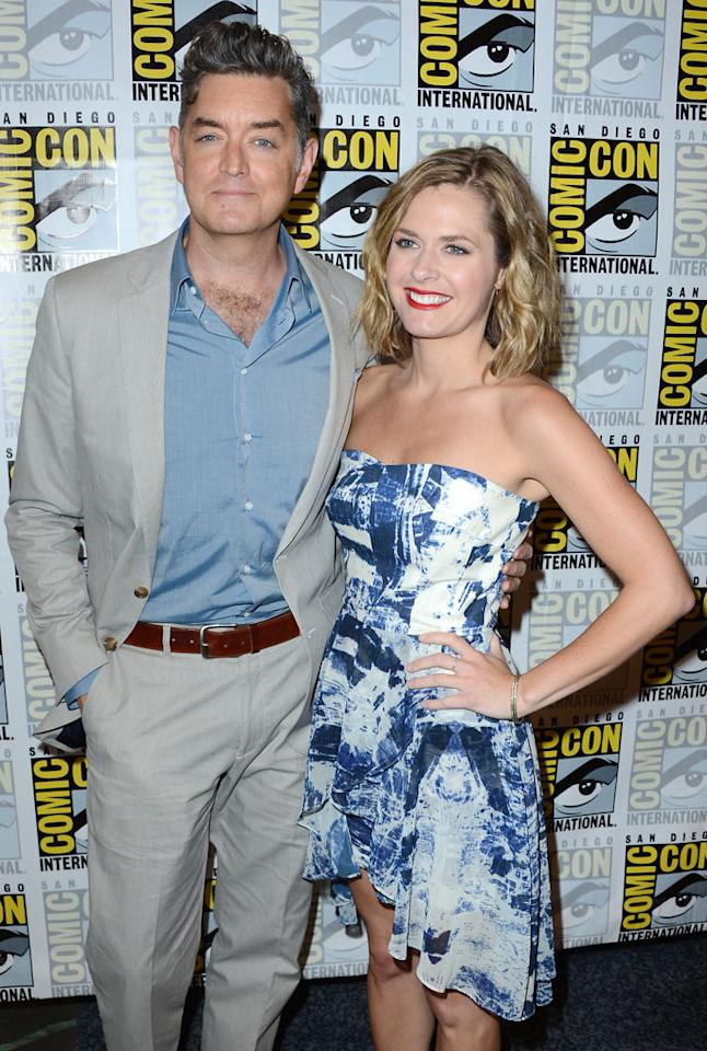 """Timothy Omundson and Maggie Lawson (""""Psych"""") at Comic-Con International on July 12, 2012 in San Diego, California."""