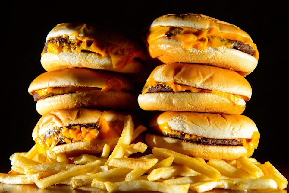<p>Britons led the way in junk food consumption over lockdown</p> (PA)