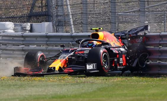 Albon made life tough for himself with a crash on Friday (Reuters)