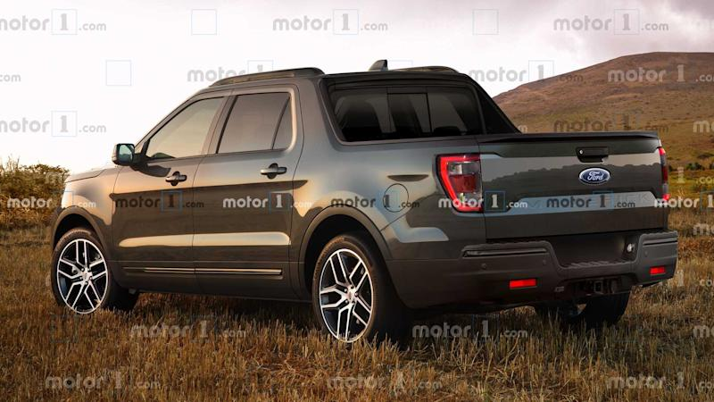 Ford Maverick Renderings Rear 3/4