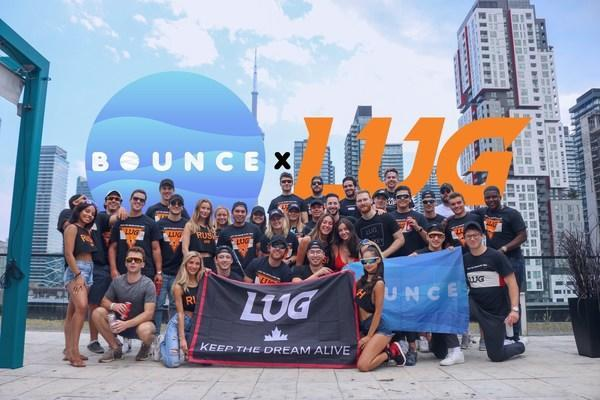 LUG Sports announces partnership with Bounce to become the Official Event Hosting tool for college students across 50+ campuses in Canada and the U.S. (CNW Group/LUG Sports)