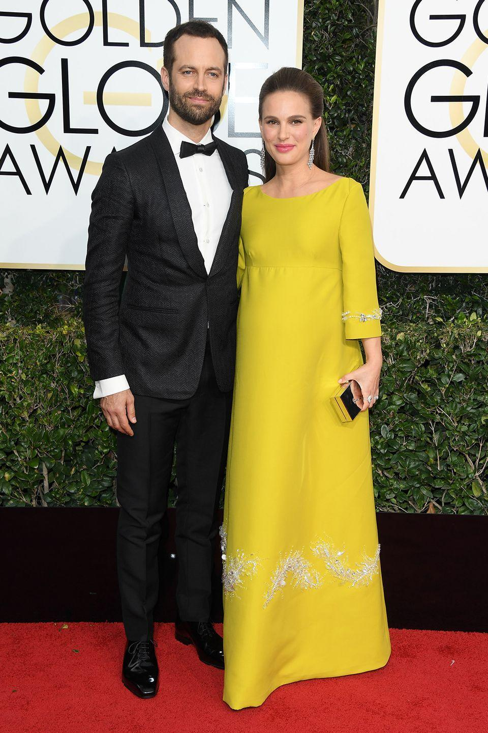 """<p><strong>How long they've been together:</strong> They met on the set of <em>Black Swan</em> in 2010—Millepied was the choreographer. During her acceptance speech for Best Actress at the 83rd Academy Awards in 2011, a then-pregnant Portman thanked Millepied with the sweetest mention. """"My beautiful love, Benjamin Millepied, who choreographed the film and has now given me my most important role in my life,"""" she said.</p><p><strong>Why you forgot they're together:</strong> Even though Portman is a red-carpet regular, she's fairly quiet about her personal life with her dancer husband.<br></p>"""