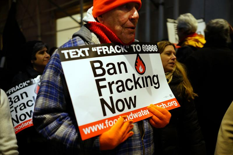 Fracking Opponents Rally Outside Cuomo Fundraiser In NYC