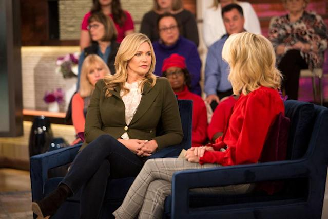 Natasha Henstridge talks to Megyn Kelly. (Photo: Zach Pagano/NBC/NBCU Photo Bank)