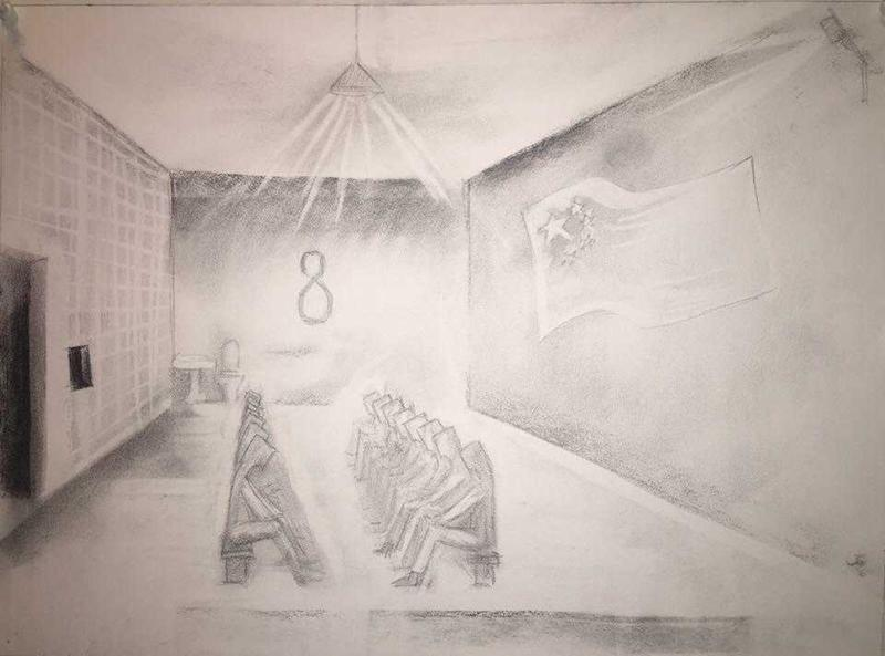 Former detainee depicts the classrooms inside the campsSimina Mistreanu / Roxi Pop