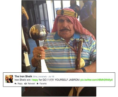 Photo and tweet from The Iron Sheik