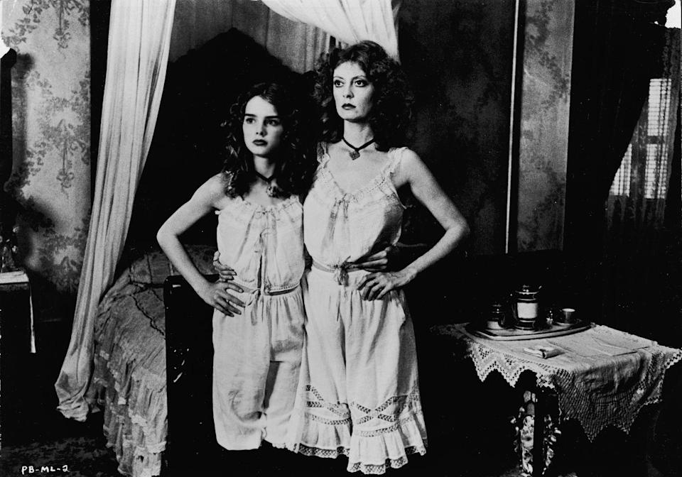 """<p>In 1978, Brooke starred in the film <em>Pretty Baby</em> alongside Susan Sarandon. At 12 years old, she played a child prostitute in New Orleans, a role that garnered a boatload of controversy, and a ton of criticism aimed at her mother, Teri, for allowing her to be in it. Forty years later, Brooke told <em><a href=""""https://www.vanityfair.com/hollywood/2018/04/brooke-shields-pretty-baby-anniversary"""" rel=""""nofollow noopener"""" target=""""_blank"""" data-ylk=""""slk:Vanity Fair"""" class=""""link rapid-noclick-resp"""">Vanity Fair</a></em> that she still had no regrets about the film, saying she worked with a great cast and adding, """"We knew this was a labor of love. More than anything, we felt we were part of something special."""" </p>"""