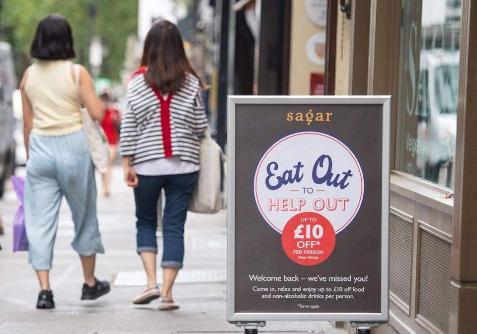 UK inflation has surged to its highest for more than nine years after a record jump in August as restaurant and cafe prices raced higher following last summer's hefty discounts under the Eat Out to Help Out scheme (Dominic Lipinski/PA) (PA Archive)