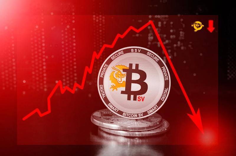 Bitcoin SV embarks on a corrective phase that could last a while. | Source: Shutterstock