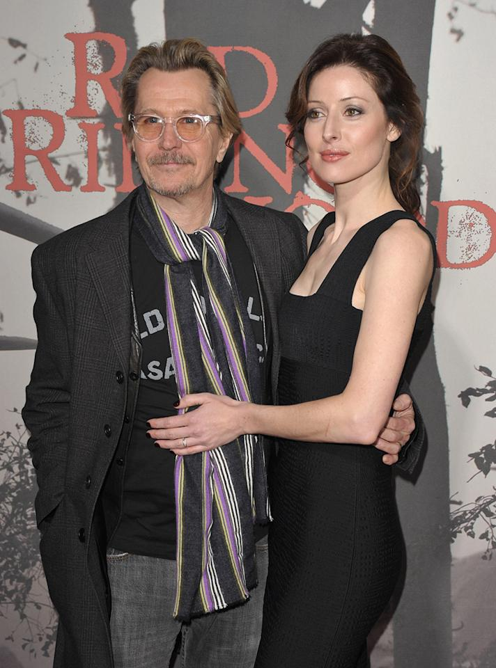 "<a href=""http://movies.yahoo.com/movie/contributor/1800020103"">Gary Oldman</a> and guest at the Los Angeles premiere of <a href=""http://movies.yahoo.com/movie/1810157569/info"">Red Riding Hood</a> on March 7, 2011."