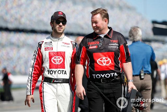 """Daniel Suarez, Gaunt Brothers Racing, Toyota Camry Toyota Certified Used Vehicles <span class=""""copyright"""">Matthew T. Thacker / NKP / Motorsport Images</span>"""