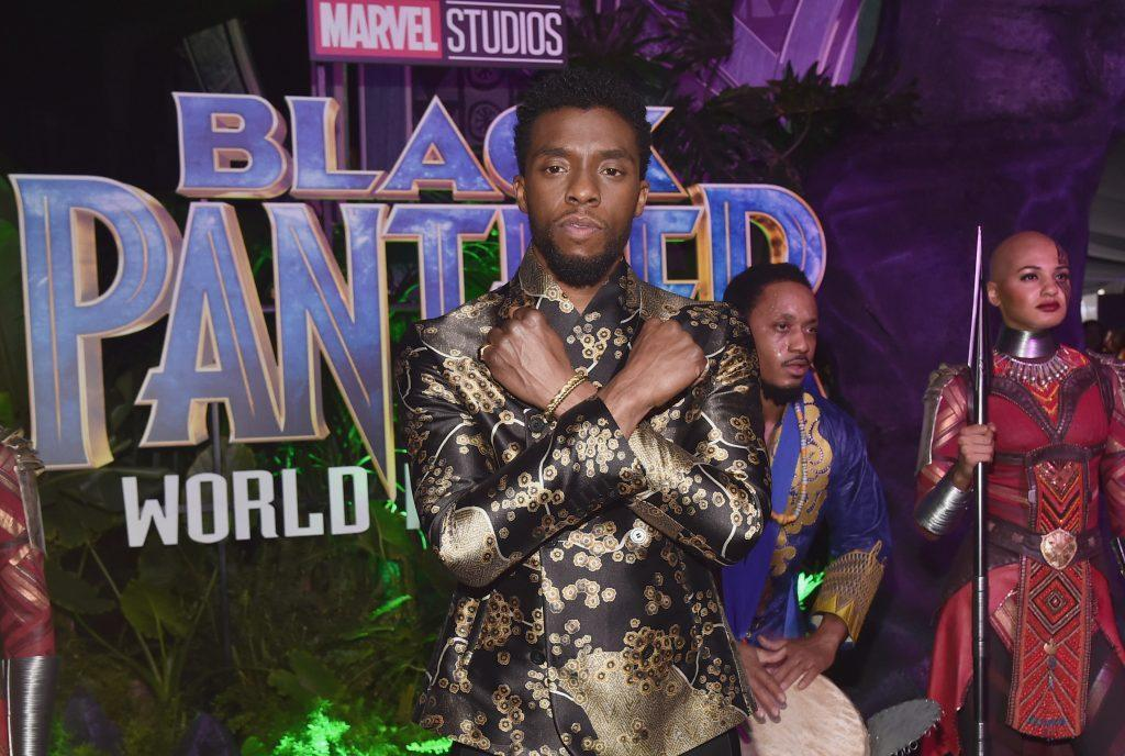 Actor Chadwick Boseman at the Los Angeles World Premiere of Marvel Studios' BLACK PANTHER at Dolby Theatre on January 29, 2018 in Hollywood, California. (Photo by Alberto E. Rodriguez/Getty Images for Disney)