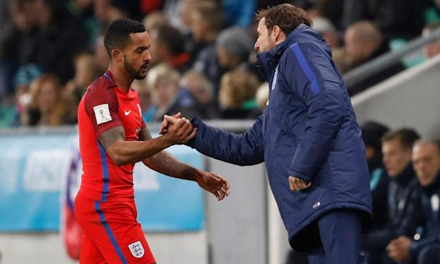 "<span class=""element-image__caption"">Theo Walcott argued his case when told by Gareth Southgate he had been dropped from the England squad to play Germany and Lithuania.</span> <span class=""element-image__credit"">Photograph: Carl Recine/Reuters</span>"