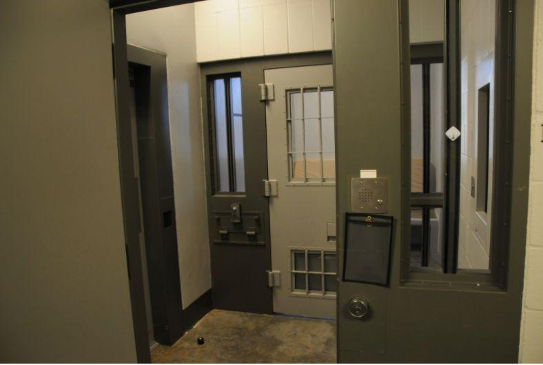 The entrance to a cell in the Administrative Control Unit, where Derek Chauvin is behind held until his sentencing, scheduled for June 16. (Photo: Minnesota Department of Corrections)