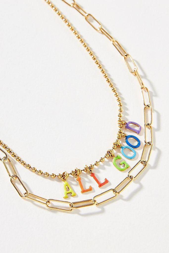 """<p><strong>Tova Anthropologie</strong></p><p>anthropologie.com</p><p><strong>$89.95</strong></p><p><a href=""""https://go.redirectingat.com?id=74968X1596630&url=https%3A%2F%2Fwww.anthropologie.com%2Fshop%2Ftova-expressions-layered-necklace&sref=https%3A%2F%2Fwww.seventeen.com%2Ffashion%2Fg34728590%2Fanthropologie-2020-black-friday-sale%2F"""" rel=""""nofollow noopener"""" target=""""_blank"""" data-ylk=""""slk:Shop Now"""" class=""""link rapid-noclick-resp"""">Shop Now</a></p><p>Give the gift of good vibes. </p>"""