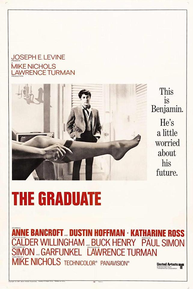 """Many people may have assumed that the sexy leg in the poster of """"The Graduate"""" belonged to the film's star, Anne Bancroft."""