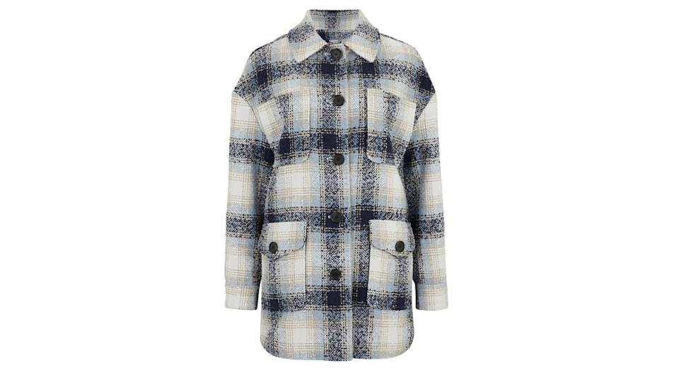 PER UNA Checked Relaxed Shacket
