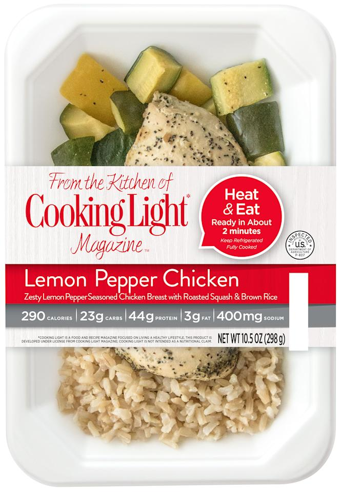 "<p>Food should be healthy and still taste great. A whole, lean chicken breast seasoned with zesty lemon pepper, served with herb roasted squash and brown rice</p>  <p>Perfect Fit Meals are <a rel=""nofollow"" href=""http://www.cookinglight.com/eating-smart/smart-choices/perfect-fit-meals"">available from multiple retailers</a>.</p>"