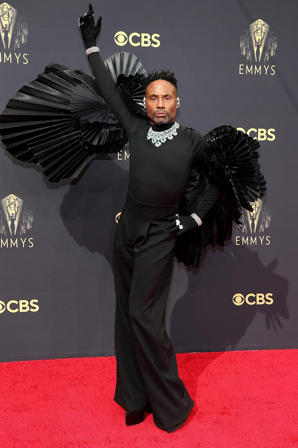 """<p>The <a href=""""https://people.com/style/2021-emmy-awards-best-dressed-stars/"""" rel=""""nofollow noopener"""" target=""""_blank"""" data-ylk=""""slk:red carpet did not disappoint this year"""" class=""""link rapid-noclick-resp"""">red carpet did not disappoint this year</a>, especially with <a href=""""https://people.com/style/2021-emmy-awards-stylish-red-carpet-moments/"""" rel=""""nofollow noopener"""" target=""""_blank"""" data-ylk=""""slk:Billy Porter dominating with a stunning sequence of fierce poses"""" class=""""link rapid-noclick-resp"""">Billy Porter dominating with a stunning sequence of fierce poses</a>. Later in the night, <em>Saturday Night Live</em>'s Bowen Yang had everyone talking about <a href=""""https://people.com/style/2021-emmy-awards-stylish-red-carpet-moments/?slide=9040de78-780a-490a-8105-8dabe59837e2#9040de78-780a-490a-8105-8dabe59837e2"""" rel=""""nofollow noopener"""" target=""""_blank"""" data-ylk=""""slk:his sky-high silver boots"""" class=""""link rapid-noclick-resp"""">his sky-high silver boots</a> and <em>The Crown</em>'s Emma Corrin brought the oohs and ahhs with their <a href=""""https://people.com/style/2021-emmy-awards-stylish-red-carpet-moments/?slide=30427503-74b8-4209-aab3-01d93ed9d2ee#30427503-74b8-4209-aab3-01d93ed9d2ee"""" rel=""""nofollow noopener"""" target=""""_blank"""" data-ylk=""""slk:&quot;crucible realness&quot; ensemble"""" class=""""link rapid-noclick-resp"""">""""crucible realness"""" ensemble</a>.</p>"""