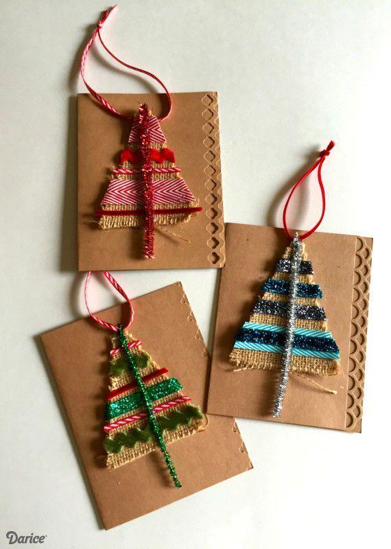"""<p>Use ribbons and burlap to create these dazzling cards.</p><p><strong>Get the tutorial at <a href=""""http://blog.darice.com/holiday/christmas-card-idea-ornament/"""" rel=""""nofollow noopener"""" target=""""_blank"""" data-ylk=""""slk:Live Craft Love"""" class=""""link rapid-noclick-resp"""">Live Craft Love</a>.</strong></p><p><a class=""""link rapid-noclick-resp"""" href=""""https://www.amazon.com/Creative-Burlap-Fabric-Craft-Ribbon/dp/B0046UV3CO/?tag=syn-yahoo-20&ascsubtag=%5Bartid%7C10050.g.3872%5Bsrc%7Cyahoo-us"""" rel=""""nofollow noopener"""" target=""""_blank"""" data-ylk=""""slk:SHOP BURLAP RIBBON"""">SHOP BURLAP RIBBON</a></p>"""