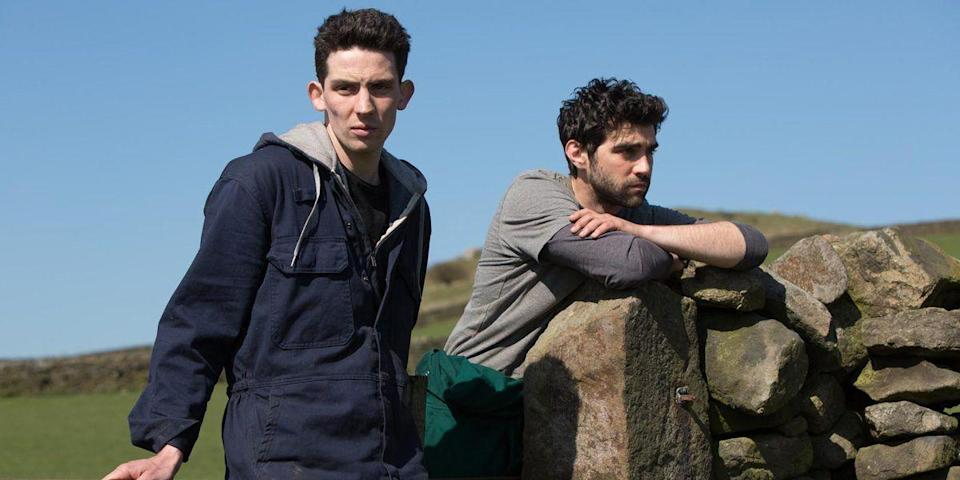 """<p>Living in the quiet reaches of pastoral northern England, Johnny (<em>The Crown</em>'s Josh O'Connor) is expected to work on his family's farm for the rest of his life. Johnny hides the fact that he's gay from his parents. Then he falls for Gheorghe (Alec Secareanu), a young man from Romania working on the farm, and he's inspired to imagine other possibilities for his future. <em>God's Own Country </em>is known for its slow-moving realism—which makes its moments of intimacy feel all the more earned (and aching). </p><p><a class=""""link rapid-noclick-resp"""" href=""""https://www.amazon.com/gp/video/detail/amzn1.dv.gti.fcaf6fd4-2929-f340-d638-764f0bfa8c0e?autoplay=1&ref_=atv_cf_strg_wb&tag=syn-yahoo-20&ascsubtag=%5Bartid%7C10072.g.33383086%5Bsrc%7Cyahoo-us"""" rel=""""nofollow noopener"""" target=""""_blank"""" data-ylk=""""slk:Watch Now"""">Watch Now</a></p>"""