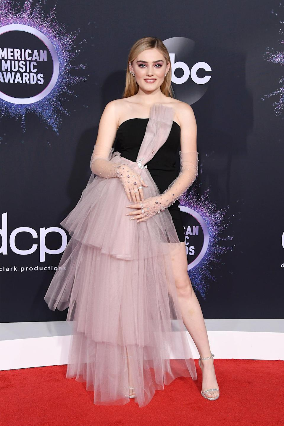 <p>Actress Meg Donnelly's dress was all kinds of stylish.</p>