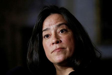 FILE PHOTO: Canada's Justice Minister Wilson-Raybould listens to a question during a news conference on Parliament Hill in Ottawa