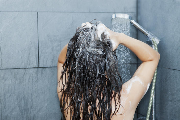 A woman in the shower. (PHOTO: Getty Images)