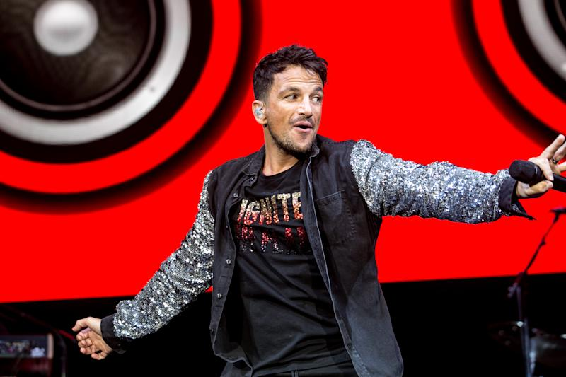 Peter Andre performs on stage at Motorpoint Arena on October 14, 2018 in Cardiff, Wales. (Photo by Mike Lewis Photography/Redferns)