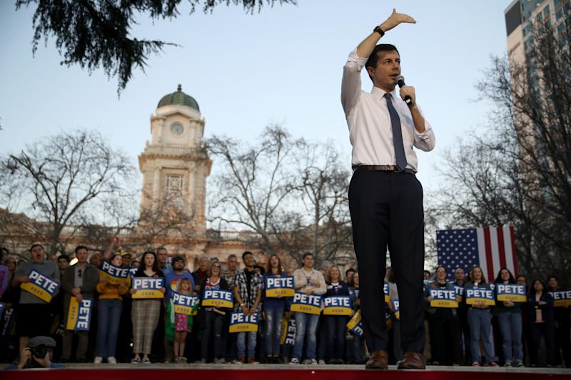 Former South Bend, Indiana Mayor Pete Buttigieg has struggled to gain traction among minority voters. He's betting California is the place to change that. (Photo: Justin Sullivan via Getty Images)