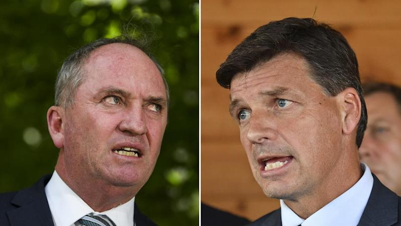 Barnaby Joyce has dismissed an inquiry into a political attack by Angus Taylor's office