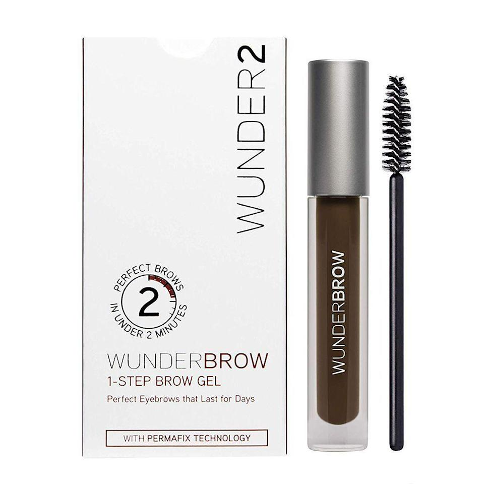 """<p><strong>Wunderbrow</strong></p><p>amazon.com</p><p><strong>$22.00</strong></p><p><a href=""""https://www.amazon.com/dp/B00UYY2GUO?tag=syn-yahoo-20&ascsubtag=%5Bartid%7C10058.g.33762832%5Bsrc%7Cyahoo-us"""" rel=""""nofollow noopener"""" target=""""_blank"""" data-ylk=""""slk:SHOP IT"""" class=""""link rapid-noclick-resp"""">SHOP IT</a></p><p>Thousands of reviewers swear by this brow gel. This best-selling Amazon beauty product transforms arches by adding definition and fullness. You won't have to worry about smudging; the formula is completely waterproof, and can last for up to three days.<br></p>"""