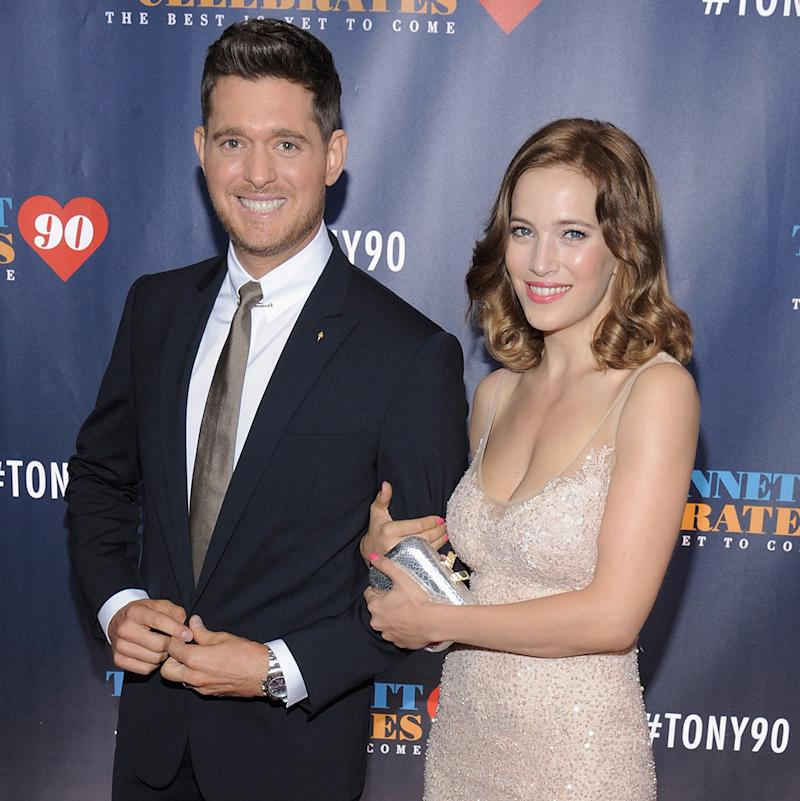 Michael Bublé and Luisana Lopilato, pictured in September, have been dealing with their son Noah's cancer diagnosis. (Photo: Matthew Eisman/Getty Images)