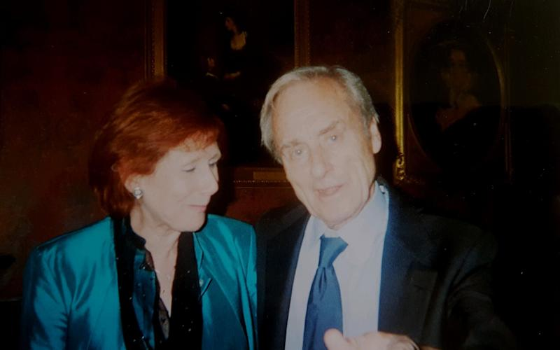 Sir Harold Evans with friend and ex-colleague Marjorie Wallace - Marjorie Wallace