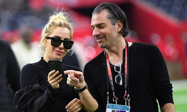 """Lady Gaga and Christian Carino <a href=""""https://uk.movies.yahoo.com/lady-gaga-fiance-christian-carino-220304455.html"""" data-ylk=""""slk:ended their engagement;outcm:mb_qualified_link;_E:mb_qualified_link;ct:story;"""" class=""""link rapid-noclick-resp yahoo-link"""">ended their engagement</a> earlier in the year having begun dating in 2017. The break-up came just ahead of 2019's Academy Awards, where the musician picked up the prize for Best Original Song for <em>A Star Is Born</em>'s '<em>Shallow</em>'. (Robert Deutsch-USA TODAY Sports)"""