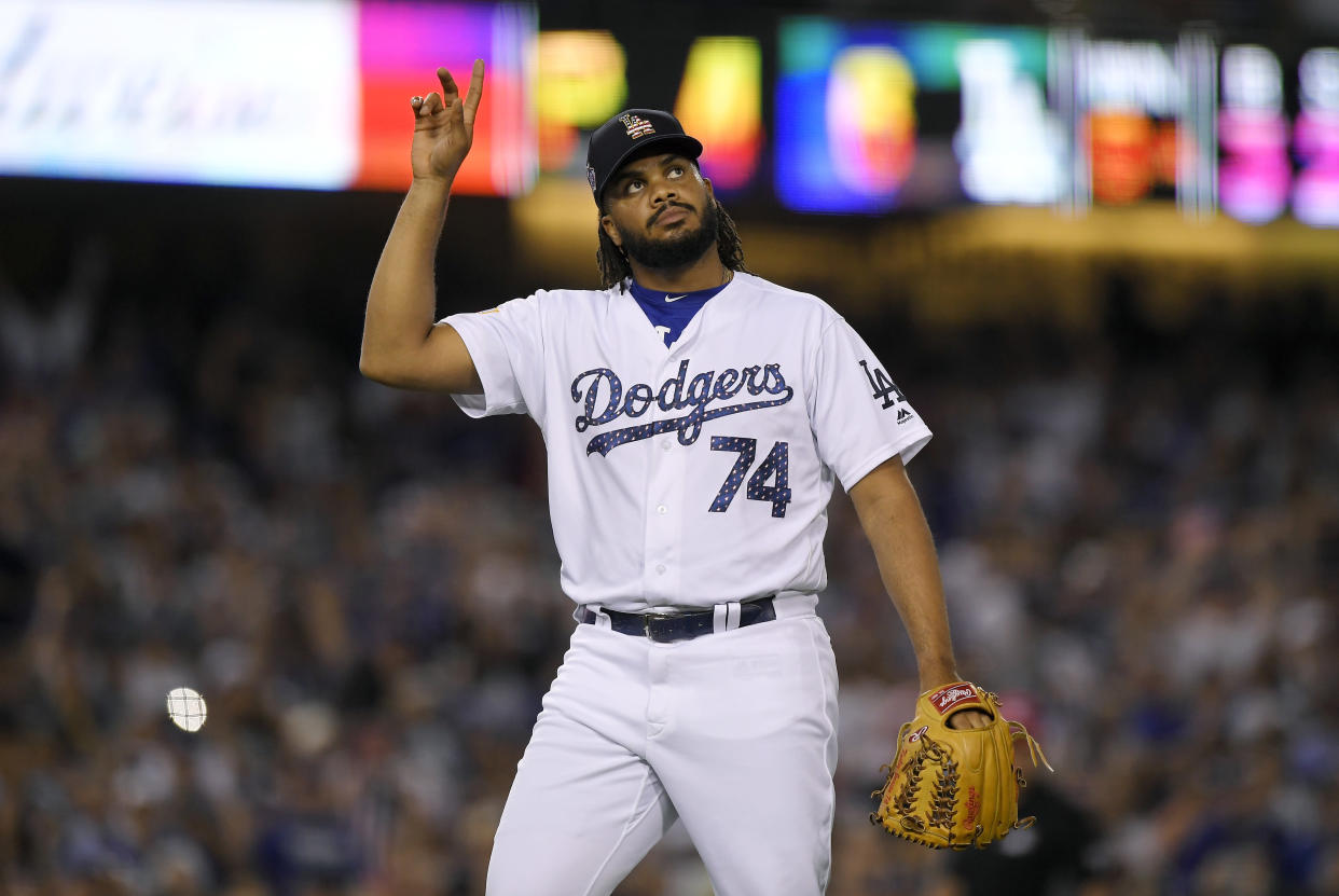 With Kenley Jansen out, where will Dave Roberts turn when there are three more outs to get, or six? (AP)