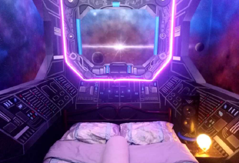 Ahmad's spaceship room caught the eye of many on social media. ― Picture via Facebook/fathil.ahmad