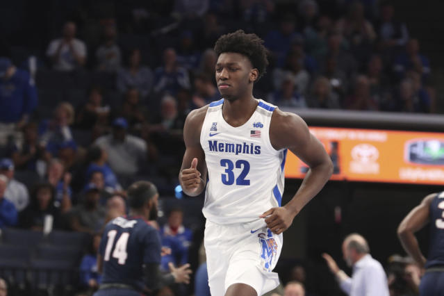 "<a class=""link rapid-noclick-resp"" href=""/ncaab/players/152930/"" data-ylk=""slk:James Wiseman"">James Wiseman</a> was the crown jewel of Memphis' top-ranked recruiting class this year. (AP)"